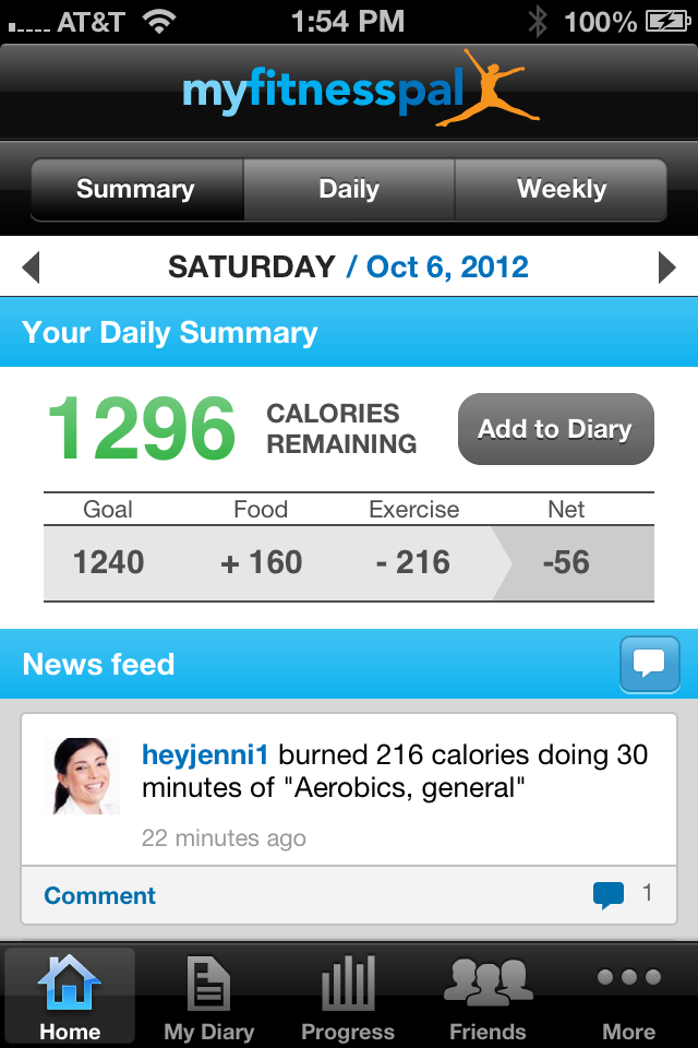 Calorie Counter & Diet Tracker by MyFitnessPal Screenshot 0